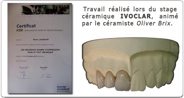 Savoir-faire Certifié Céramique IVOCLAR